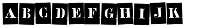 Stencil Full Negative Dance Font UPPERCASE
