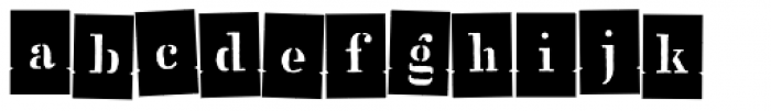 Stencil Full Negative Dance Font LOWERCASE