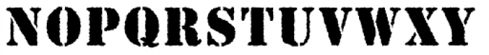 Stencil MN Antique Font UPPERCASE