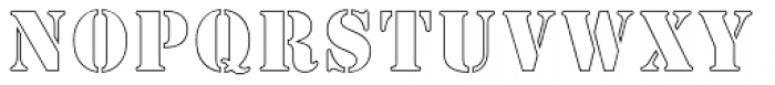 Stencil MN Outline Font LOWERCASE