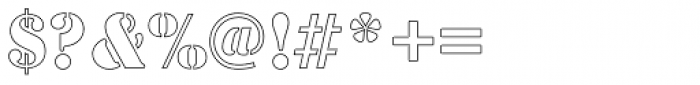 Stencil Outline Font OTHER CHARS