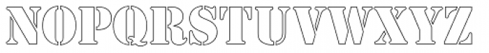 Stencil Outline Font LOWERCASE