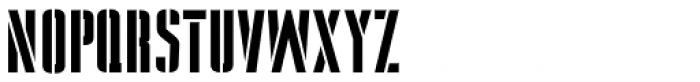 Stencil Package JNL Font LOWERCASE