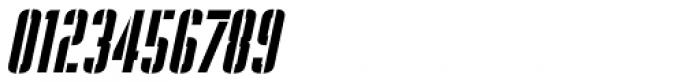 Stencil Package Oblique JNL Font OTHER CHARS