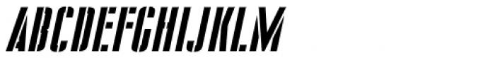 Stencil Package Oblique JNL Font UPPERCASE