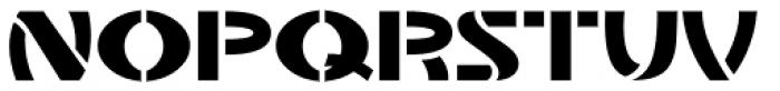 Stencil Plate JNL Font UPPERCASE