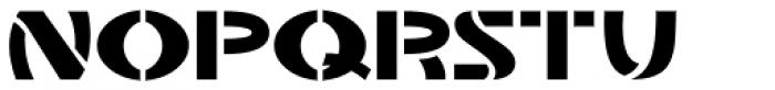 Stencil Plate JNL Font LOWERCASE
