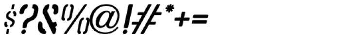Stencil Punch Oblique JNL Font OTHER CHARS