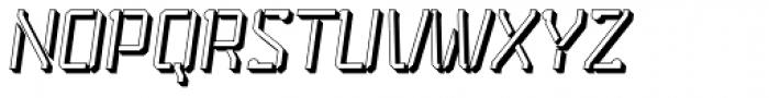 Stenciliqo 4F Extruded Italic Font UPPERCASE