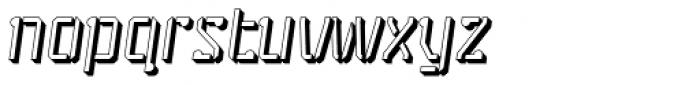 Stenciliqo 4F Extruded Italic Font LOWERCASE
