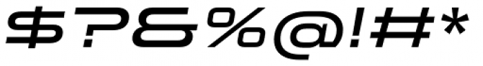 Stereo Gothic 600 Italic Font OTHER CHARS