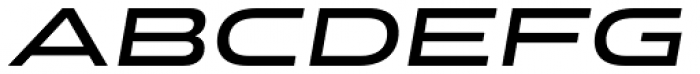 Stereo Gothic 600 Italic Font UPPERCASE