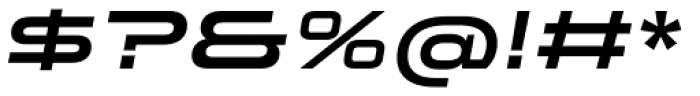 Stereo Gothic 700 Italic Font OTHER CHARS