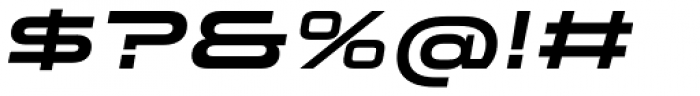 Stereo Gothic 750 Italic Font OTHER CHARS