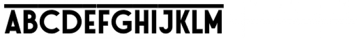Stereonic L Overline Font LOWERCASE