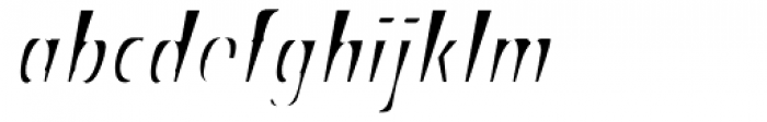 Stick26 Light Oblique Font LOWERCASE