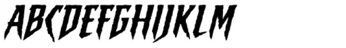 Sticky Fingers Italic Font UPPERCASE