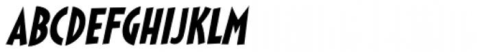 Sticky Moula BTN Oblique Font UPPERCASE