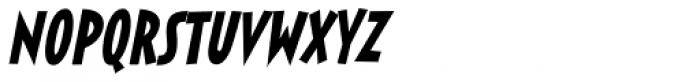 Sticky Moula BTN Oblique Font LOWERCASE