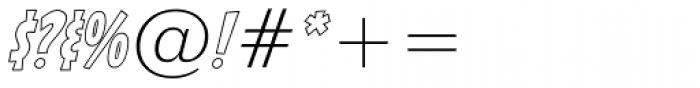 Sticky Moula BTN Outline Oblique Font OTHER CHARS