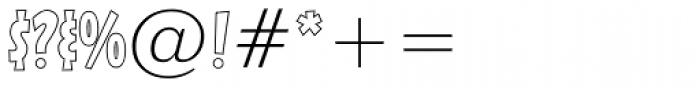 Sticky Moula BTN Outline Font OTHER CHARS