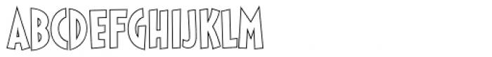 Sticky Moula BTN Outline Font LOWERCASE
