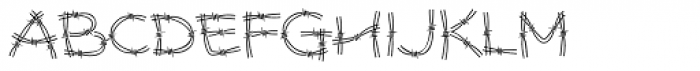 Stingwire BT Font UPPERCASE