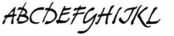 Stockscript Font UPPERCASE