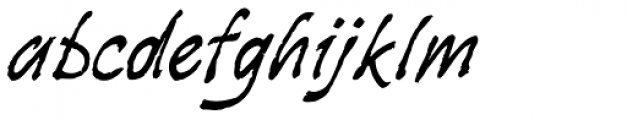 Stockscript Font LOWERCASE