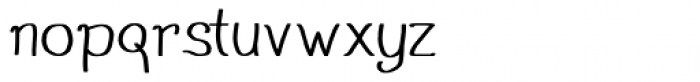 Stola Regular Font LOWERCASE