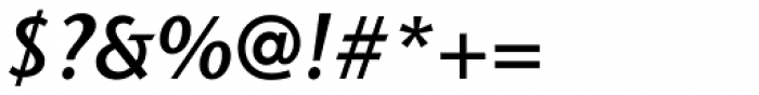 Stone Sans II Std SemiBold Italic Font OTHER CHARS