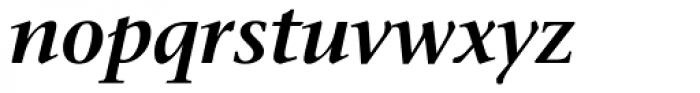 Stone Serif OS SemiBold Italic Font LOWERCASE