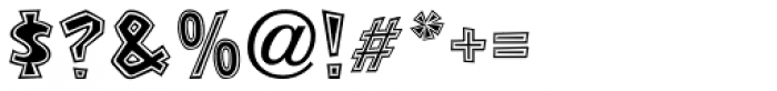 Stonecut JNL Font OTHER CHARS