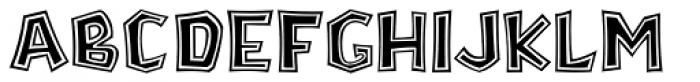 Stonecut JNL Font LOWERCASE