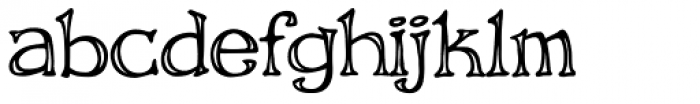 Storyline Engraved Font LOWERCASE