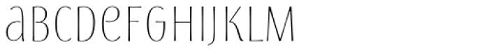 Storyteller Sans Condensed Light Font LOWERCASE