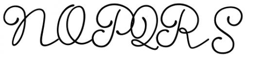 Storyteller Script Bold Font UPPERCASE