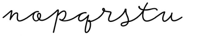 Storyteller Script Bold Font LOWERCASE