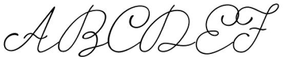 Storyteller Script Light Casual Font UPPERCASE