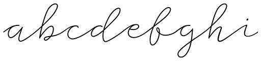Storyteller Script Light Casual Font LOWERCASE