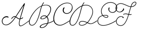 Storyteller Script Light Font UPPERCASE