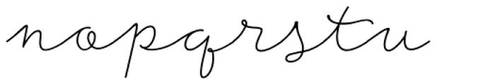 Storyteller Script Light Font LOWERCASE