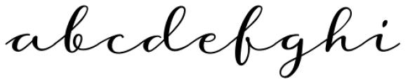 Storyteller Script Regular Font LOWERCASE