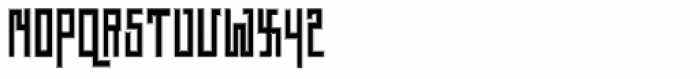 Straight Angles Font LOWERCASE