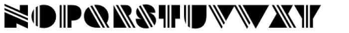 Strand Stripe Font UPPERCASE