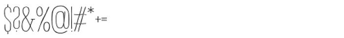 Strangelove NextSlab Narrow Regular Font OTHER CHARS