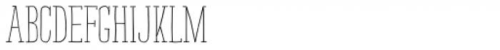 Strangelove NextSlab Narrow Regular Font UPPERCASE
