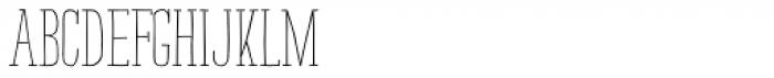 Strangelove NextSlab Narrow Regular Font LOWERCASE