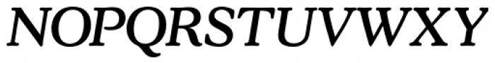 Stratford Italic Font UPPERCASE