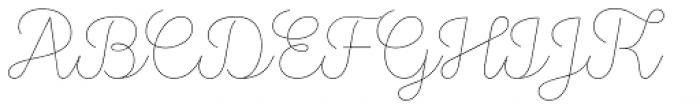 Stratic Script Hairline Font UPPERCASE